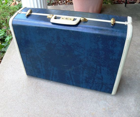 Blue Vintage Suitcase | Luggage And Suitcases
