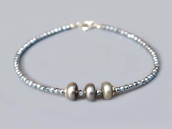 NEW  Beautiful handmade women bracelet hematite by euforioHandmade