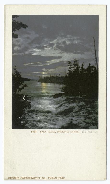 Bala falls, lake Rousseau, Muskoka lakes Ontario 1903