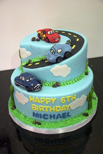 BC4041 - Cars movie theme cake by www.fortheloveofcake.ca, via Flickr