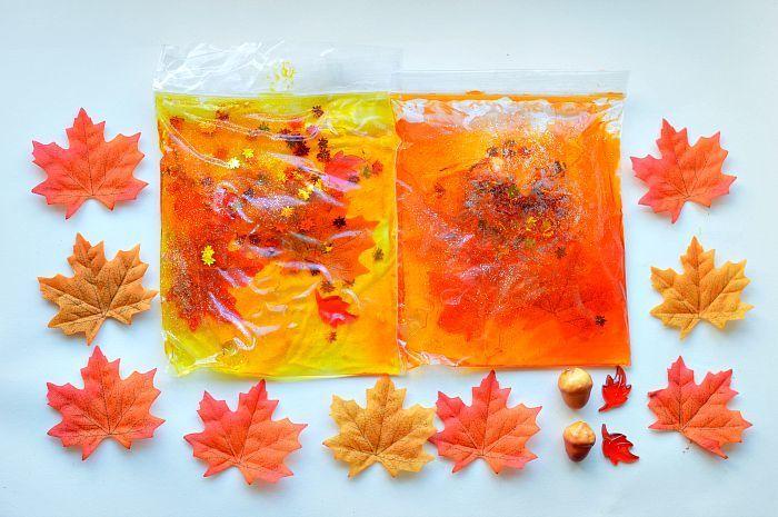 Fall themed sensory/squishy bags