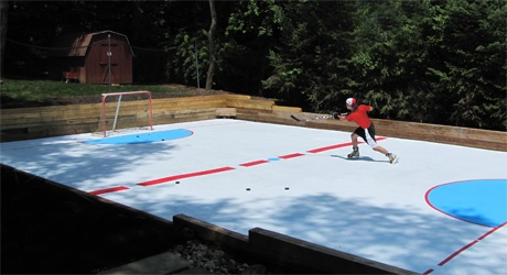 Synthetic Ice Rink (Skate on it just like Ice, In All Climates)