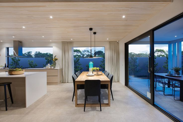 Open plan dining area in the Vermont with a Cottesloe World of Style.