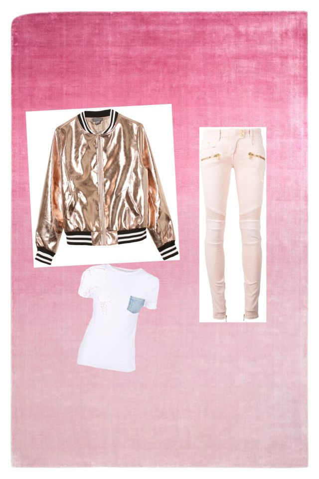 """""""Untitled #22"""" by alexandraflorentina672003 on Polyvore featuring Designers Guild, Balmain, Sans Souci and Helmut Lang"""
