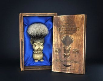 Skull Shaving brush Hand made finest by GothChicAccessories