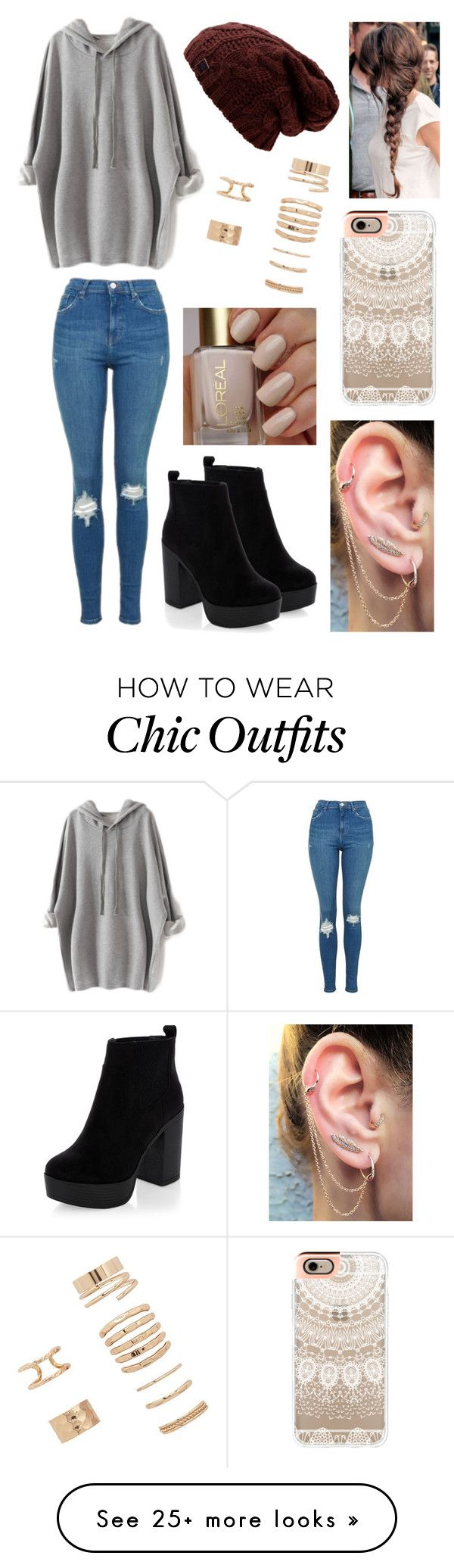 """Comfortable and cute"" by jenn-tomlinson on Polyvore featuring New Look, Topshop, Forever 21 and Casetify"
