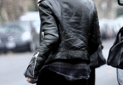 Checks & leather #fashion