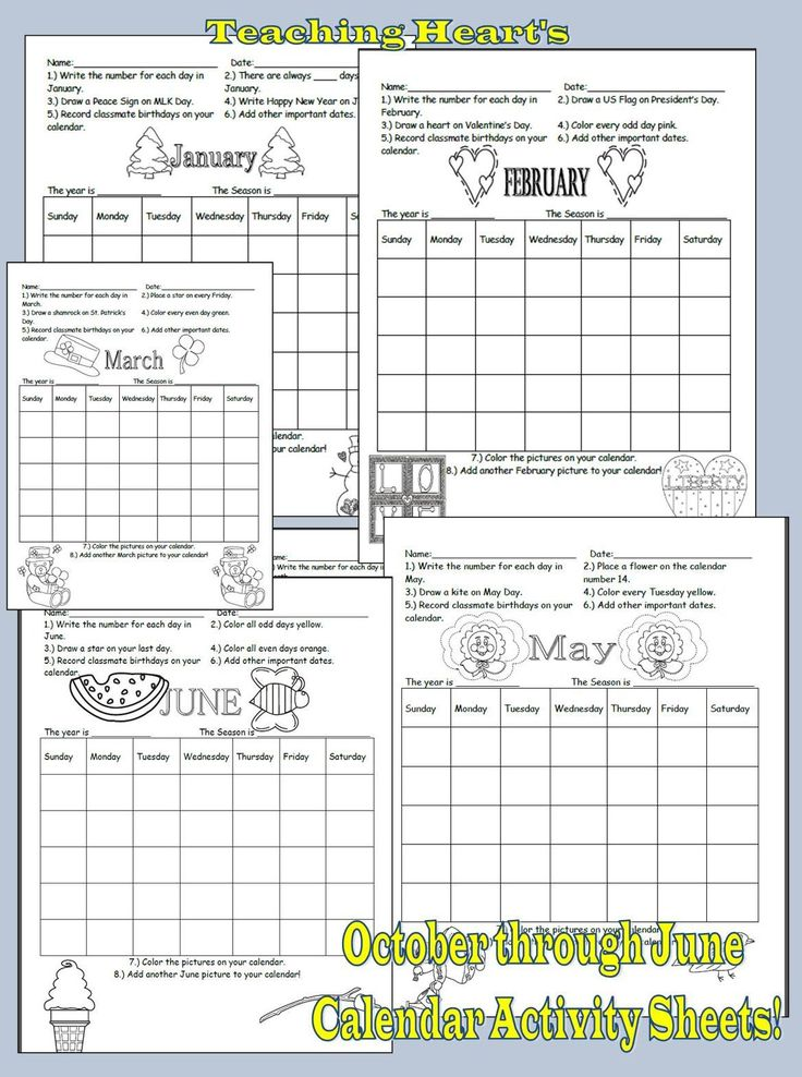 Calendar Reading Worksheet : Best ideas about calendar activities on pinterest