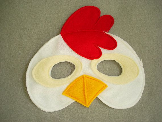 pollito pio!! https://www.etsy.com/listing/157368577/childrens-chicken-farm-animal-felt-mask