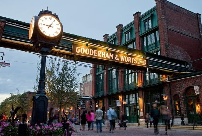 Pedestrian-only Distillery district. Stroll along the cobblestone streets and feel transported back in time.