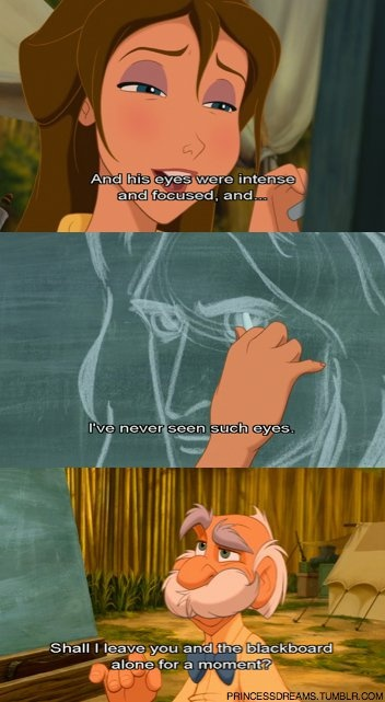 I love this part of the movie! The comment about the blackboard is so cute. <3