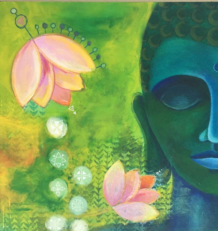 #buddha #zen #painting monica gnosca
