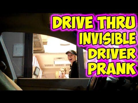 Invisible Car Driver Pranks Unsuspecting Drive-Thru Employees