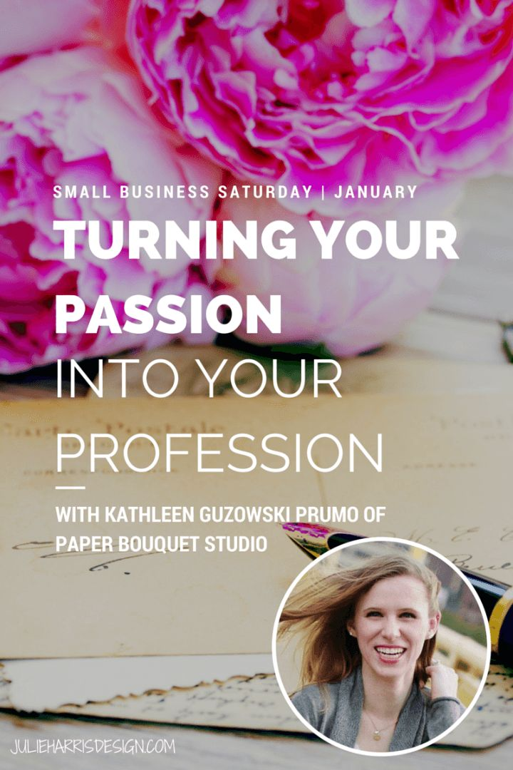 Small Business Saturday | January With Kathleen Guzowski Prumo of Paper Bouquet Studio