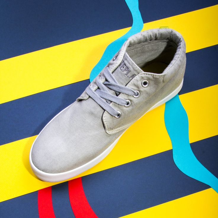 Iron Men, Replay, Irons, Trainers, Grey, Top, Tennis Sneakers, Mindful  Gray, Iron