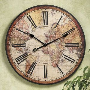 Best 25 world clock ideas on pinterest london time zone city icasso vintage world map colourful london country style non ticking silent wood wall clock gumiabroncs Choice Image