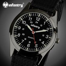 INFANTRY Men Quartz Watches Military Army Durable Nylon Strap Luminous Sport Watch Relogio Masculino 24 Hours Display Wristwatch(China (Mainland))