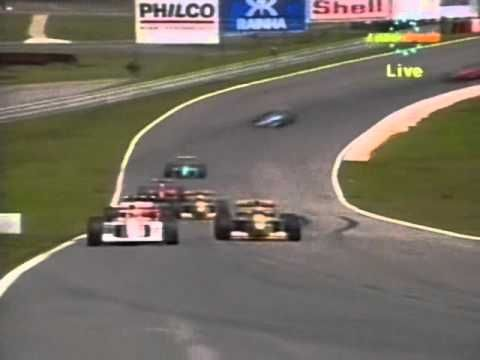 Senna vs Schumacher - 1992 Brazilian Grand Prix - YouTube