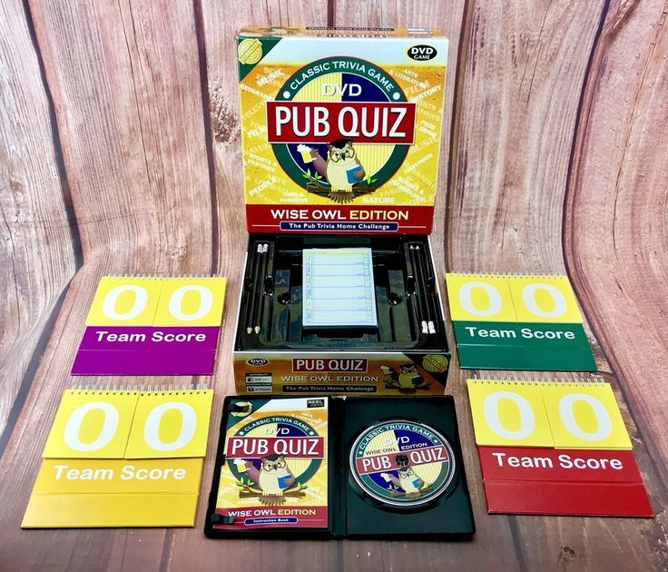 DVD Pub Quiz Home Challenge Trivia Party Game Wise Owl Edition Family Games 🎁