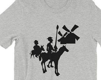 Don Quixote T-Shirt - Tilting at Windmills T-Shirt