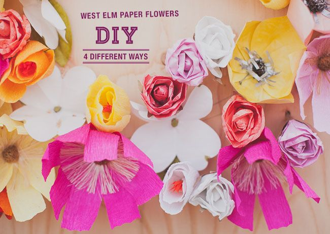 Paper Flower DIYs with West Elm + Giveaway!