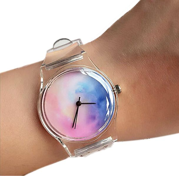 Girls Watercolor Transparent Watch - Thieve is a curated list of the best products and gift ideas from AliExpress.
