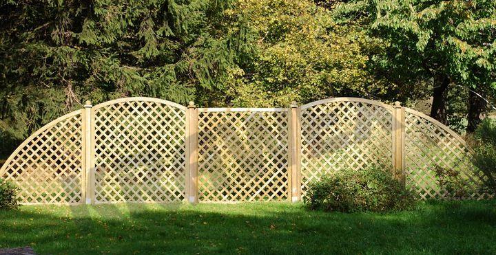 Panel Kratka Drewniana Plot Panel Ogrodowy 6781018773 Oficjalne Archiwum Allegro Paneling