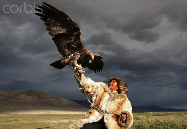 Kazak eagle hunter, Mongolia. Not. Fair.