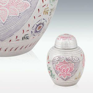 Lotus Blossom Keepsake Pet Cremation Urn offers you a lasting, tangible remembrance of your beloved pet