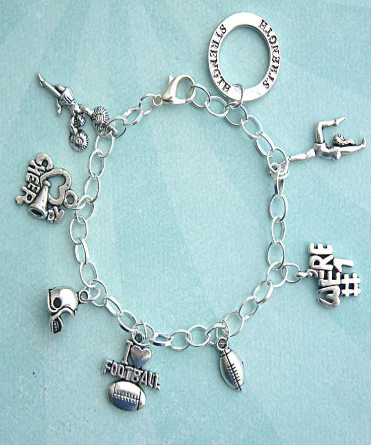 Cheer Charm Bracelets: 17 Best Images About Cheerleader On Pinterest