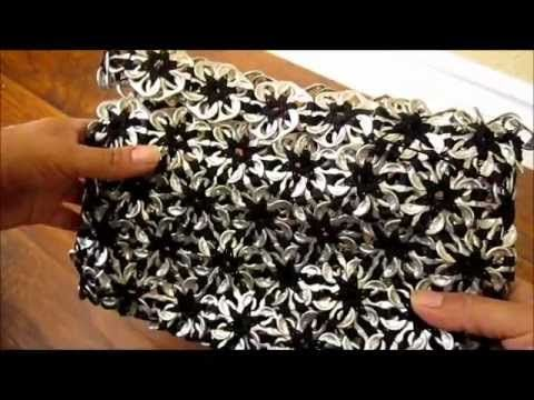 'How to':  crochet a flower purse with pop-can tabs. (in Spanish, but the language of crochet is universal!)