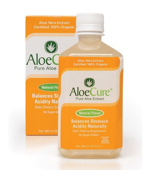 AloeCure Pure Aloe Vera Juice for Bouts of Acid Reflux, Heartburn, and IBS Natural Flavor, 6 Bottles by AloeCure®