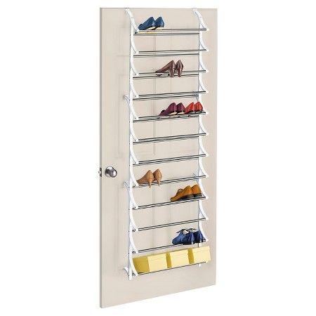 lynk 36 pair 12 tier over door shoe rack white target