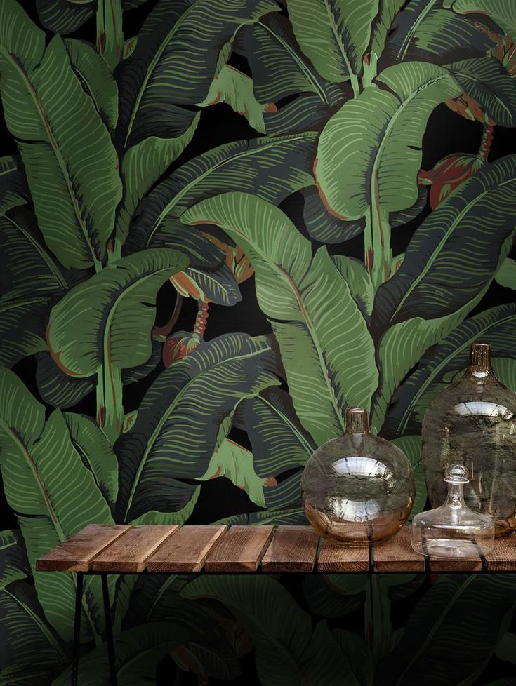 Banana Leaf Wallpaper, Martinique wallpaper, Beverly Hills