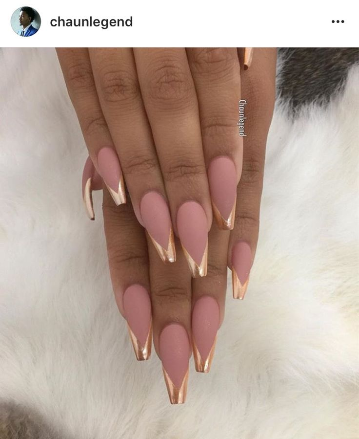Nude Chrome Nails