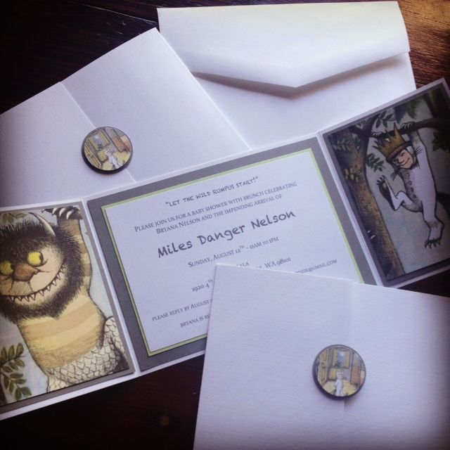 26 best where the wild things are nursery images on pinterest, Baby shower invitations