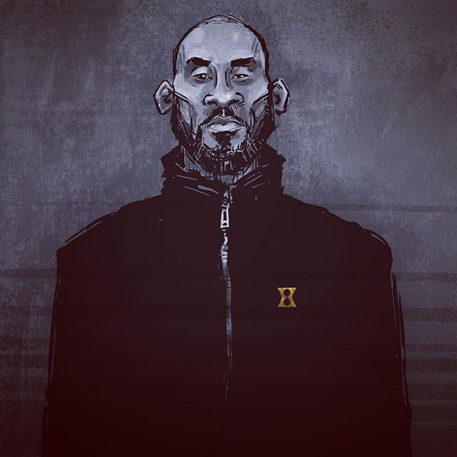 INC.  Somehow drawing bearded, old, retired, entrepreneur Kobe is more fun than playing-days Kobe #kobe #kobebryant #blackmamba #kb24 #kobeinc #lakers #lalakers #losangeles #losangeleslakers #la