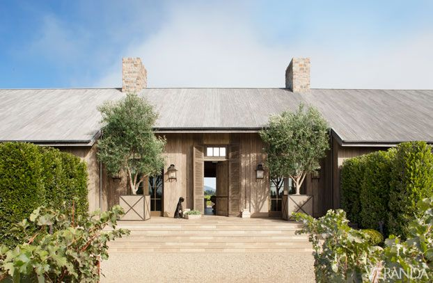 Hallberg created this luminous weekend retreat with an all-embracing indoor-outdoor design that embraces the Napa Valley Landscape. Lanterns, Dennis