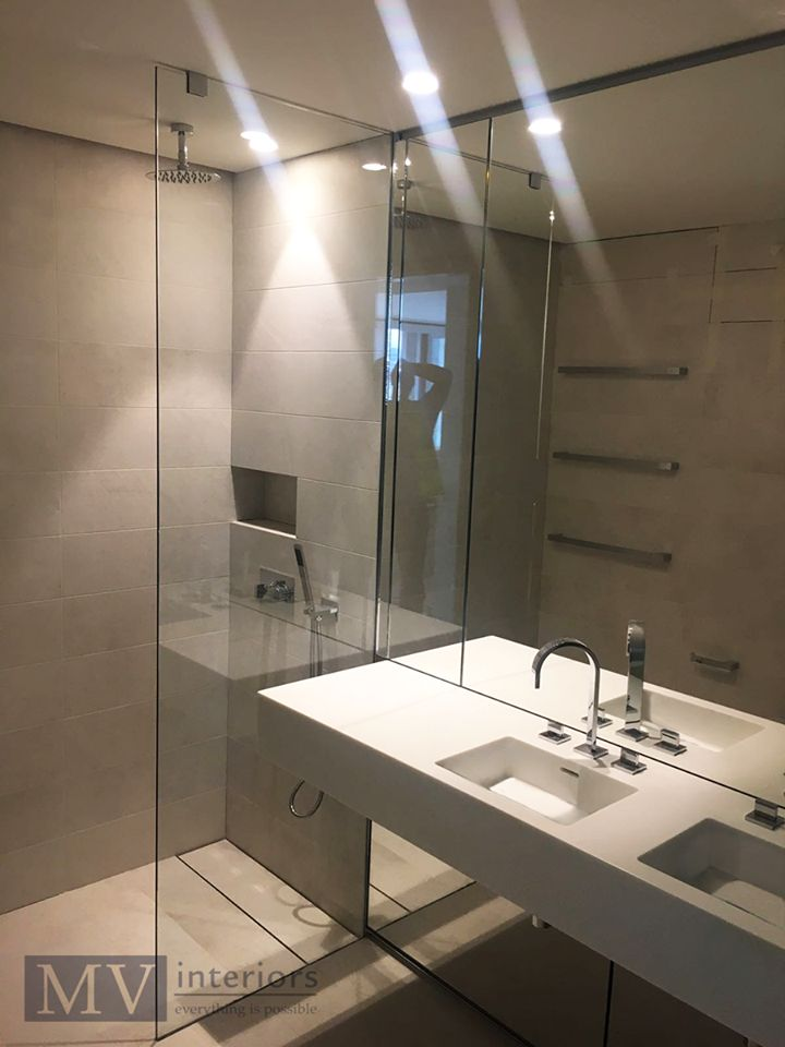Walk In Wet Room Designs: Minimalist Wet Room We Installed For A Client, With Twin
