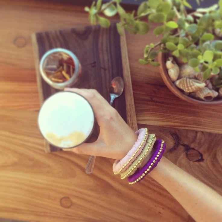 PANDULA silk wrapped boho bangles made by September McNabb #pandula_jewellery. South Africa Muizenberg