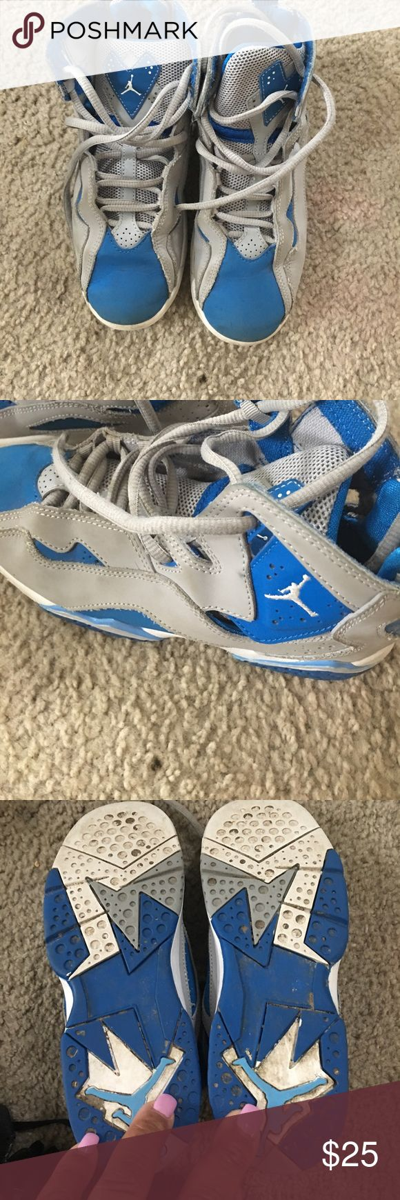 Kids Jordan tennis shoes Blue n grey Nike Jordan's kids tennis shoes jordans Shoes Sneakers