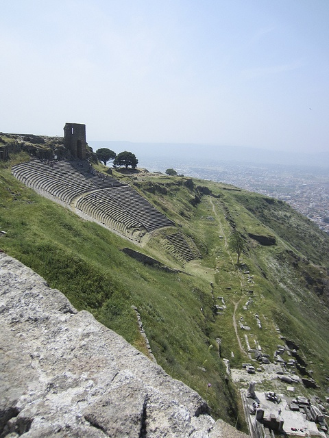 Ruins of the ancient city of Pergamon near Bergama Turkey