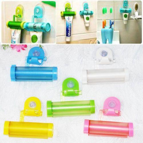 Plastik Bergulir Berguna Pasta Gigi Tabung Pemeras Mudah Dispenser Kamar Mandi Pemegang Gratis Pengiriman
