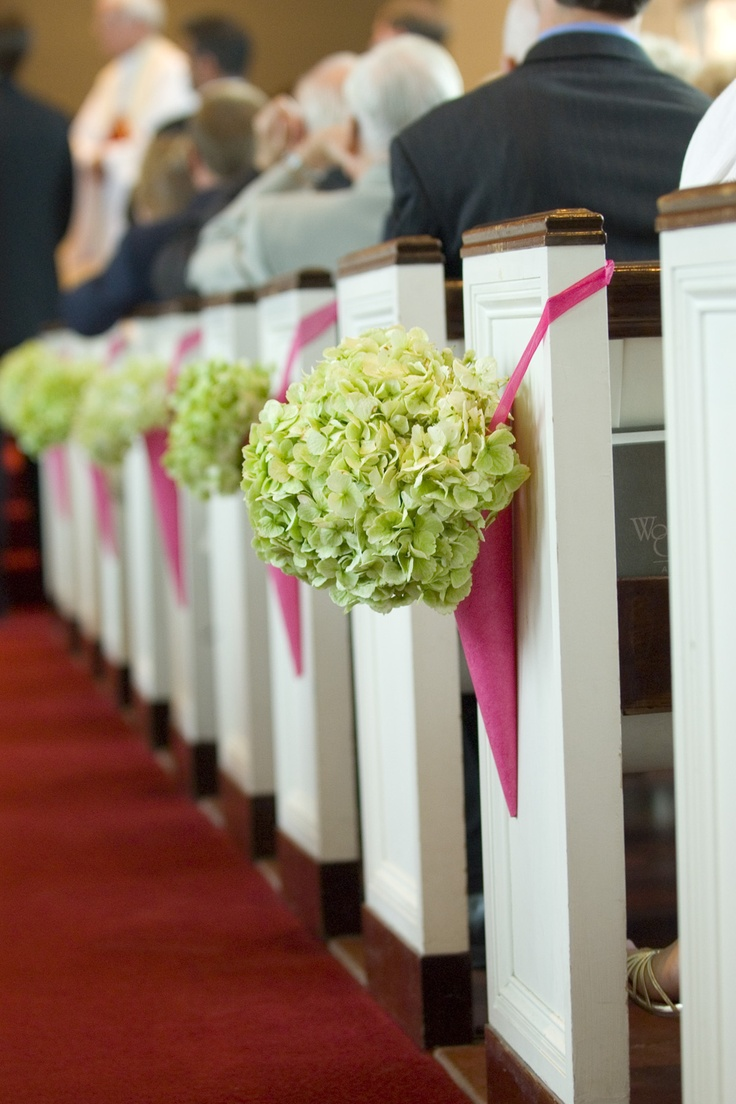 1000 images about pew ends on pinterest pink paper for Aisle decoration