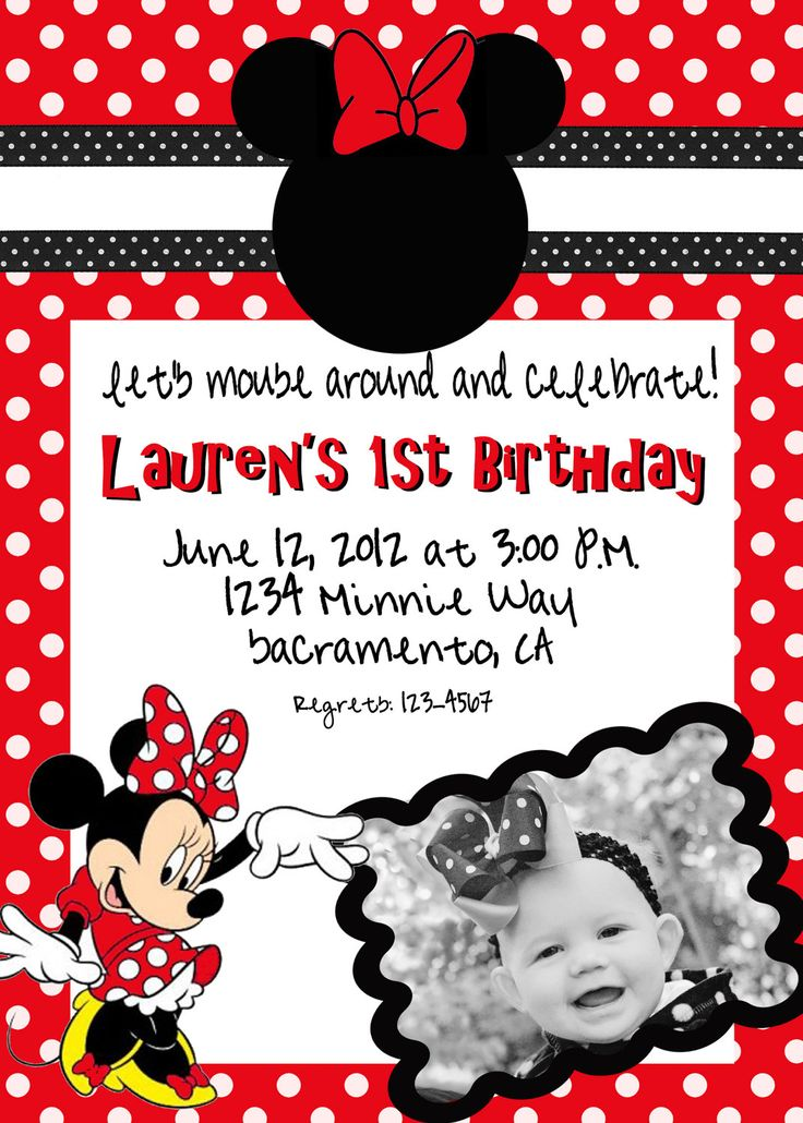 1000 images about minnie vermelha – Minnie Mouse Invitation Cards