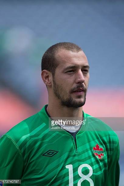 Milan Borjan of Canada before taking on Panama in a CONCACAF Gold Cup match at Sports Authority Field at Mile High on July 14 2013 in Denver Colorado