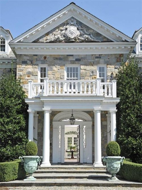 Stunning Stone Georgian Mansion in Greenwich Connecticut