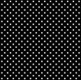 Behang, zwart met witte stippen