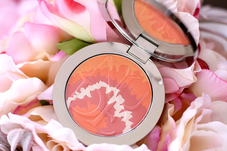 $57 Dior Diorskin Nude Tan Tie Dye Edition Blush Harmony in 002 Coral Sunset, one of two new Blush Harmony blushes in the Dior Summer 2015 Tie Dye Collection