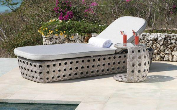 designer gartenmöbel ideen rattan pool sonnenliege grau ähnliche, Terrassen ideen